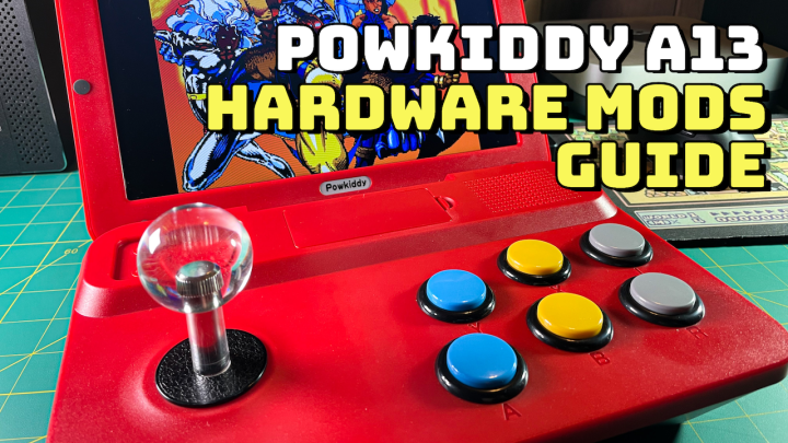 PowKiddy A13 Hardware Mods — Buttons, Joystick, and Weight Rebalance