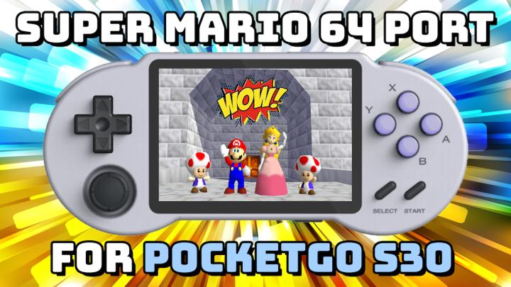Super Mario 64 Port on the PocketGoS30