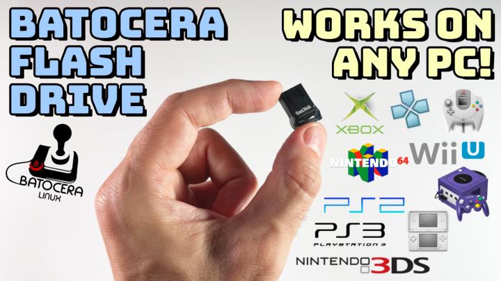 Turn a USB Flash Drive into a Portable Gaming Console usingBatocera